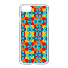 Pop Art Abstract Design Pattern Apple Iphone 8 Seamless Case (white)
