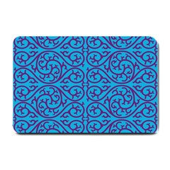 Monogram Blue Purple Background Small Doormat
