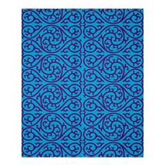 Monogram Blue Purple Background Shower Curtain 60  X 72  (medium)