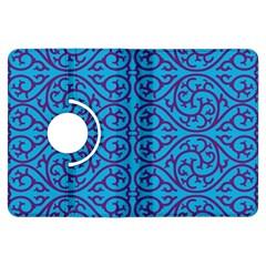Monogram Blue Purple Background Kindle Fire Hdx Flip 360 Case