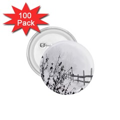 Snow Winter Cold Landscape Fence 1 75  Buttons (100 Pack)