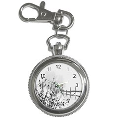 Snow Winter Cold Landscape Fence Key Chain Watches
