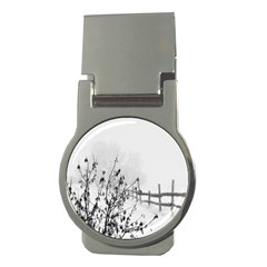 Snow Winter Cold Landscape Fence Money Clips (round)