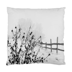 Snow Winter Cold Landscape Fence Standard Cushion Case (one Side)