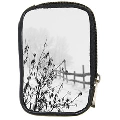 Snow Winter Cold Landscape Fence Compact Camera Cases
