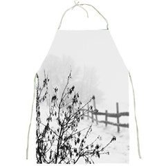 Snow Winter Cold Landscape Fence Full Print Aprons