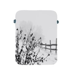 Snow Winter Cold Landscape Fence Apple Ipad 2/3/4 Protective Soft Cases