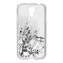 Snow Winter Cold Landscape Fence Samsung Galaxy S4 I9500/ I9505 Case (white)