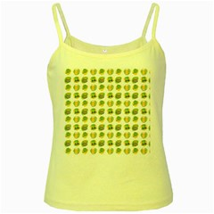 St Patrick S Day Background Symbols Yellow Spaghetti Tank