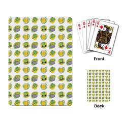 St Patrick S Day Background Symbols Playing Card