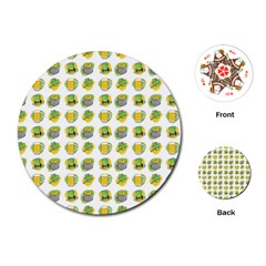St Patrick S Day Background Symbols Playing Cards (round)