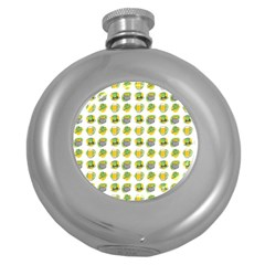 St Patrick S Day Background Symbols Round Hip Flask (5 Oz)