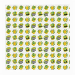 St Patrick S Day Background Symbols Medium Glasses Cloth (2 Side)