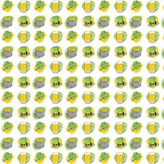 St Patrick S Day Background Symbols Magic Photo Cubes