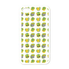 St Patrick S Day Background Symbols Apple Iphone 4 Case (white)