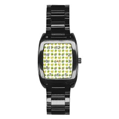 St Patrick S Day Background Symbols Stainless Steel Barrel Watch