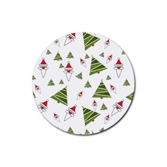 Christmas Santa Claus Decoration Rubber Coaster (round)