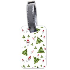 Christmas Santa Claus Decoration Luggage Tags (one Side)