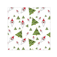 Christmas Santa Claus Decoration Small Satin Scarf (square)
