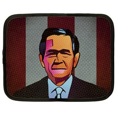 George W Bush Pop Art President Usa Netbook Case (large)