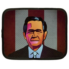 George W Bush Pop Art President Usa Netbook Case (xxl)