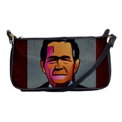 George W Bush Pop Art President Usa Shoulder Clutch Bags