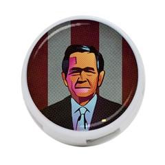 George W Bush Pop Art President Usa 4 Port Usb Hub (one Side)