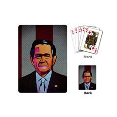 George W Bush Pop Art President Usa Playing Cards (mini)