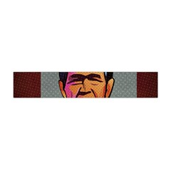 George W Bush Pop Art President Usa Flano Scarf (mini)