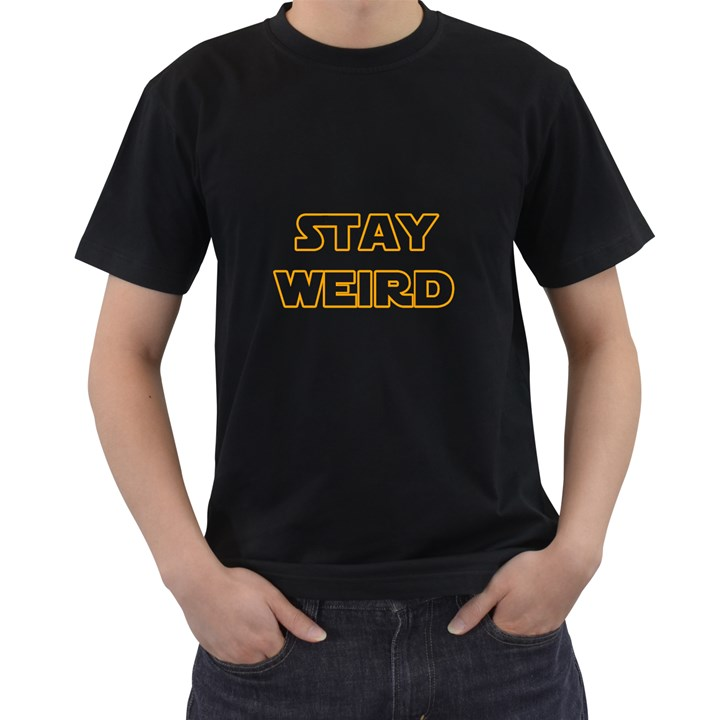 Stay weird Men s T-Shirt (Black) (Two Sided)