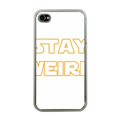 Stay Weird Apple Iphone 4 Case (clear)