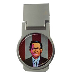George W Bush Pop Art President Usa Money Clips (round)