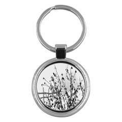 Snow Winter Cold Landscape Fence Key Chains (round)