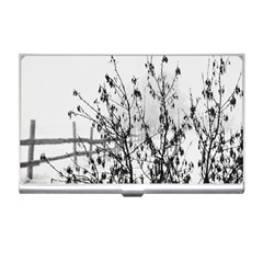 Snow Winter Cold Landscape Fence Business Card Holders