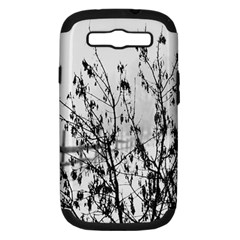 Snow Winter Cold Landscape Fence Samsung Galaxy S Iii Hardshell Case (pc+silicone)