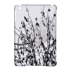 Snow Winter Cold Landscape Fence Apple Ipad Mini Hardshell Case (compatible With Smart Cover)