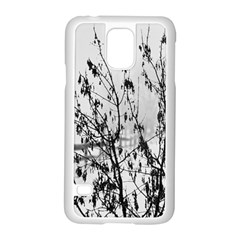 Snow Winter Cold Landscape Fence Samsung Galaxy S5 Case (white)