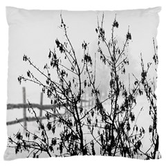 Snow Winter Cold Landscape Fence Large Flano Cushion Case (two Sides)