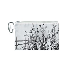 Snow Winter Cold Landscape Fence Canvas Cosmetic Bag (s)