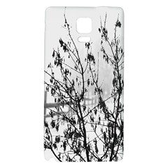 Snow Winter Cold Landscape Fence Galaxy Note 4 Back Case