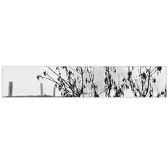 Snow Winter Cold Landscape Fence Large Flano Scarf
