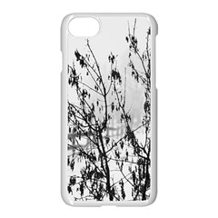 Snow Winter Cold Landscape Fence Apple Iphone 8 Seamless Case (white)