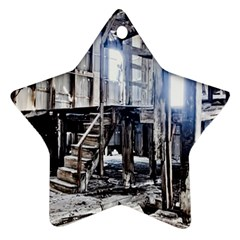 House Old Shed Decay Manufacture Ornament (star)