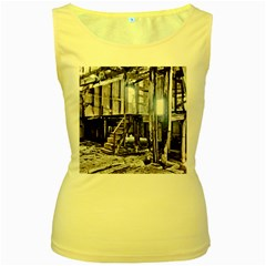 House Old Shed Decay Manufacture Women s Yellow Tank Top