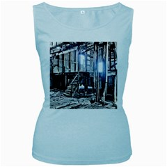House Old Shed Decay Manufacture Women s Baby Blue Tank Top