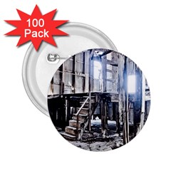 House Old Shed Decay Manufacture 2 25  Buttons (100 Pack)