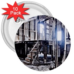 House Old Shed Decay Manufacture 3  Buttons (10 Pack)