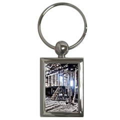 House Old Shed Decay Manufacture Key Chains (rectangle)