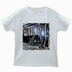House Old Shed Decay Manufacture Kids White T Shirts
