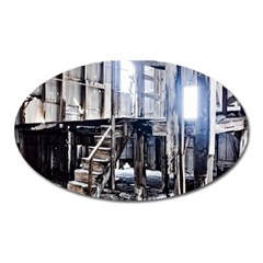House Old Shed Decay Manufacture Oval Magnet